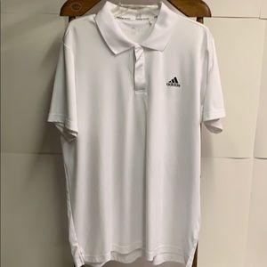 Adidas White Tennis Shirt Climalite Size XL